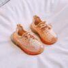 basket chausson bébé orange