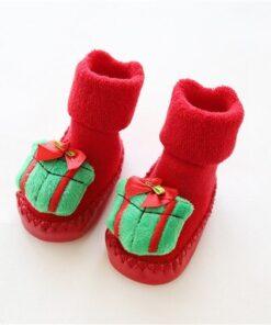 Chaussettes de Noel pour Bébé Cadeau vert