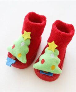 Chaussettes de Noel pour Bébé Sapin de Noël