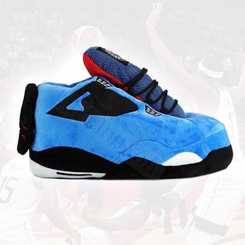 chausson basket homme bleu profil