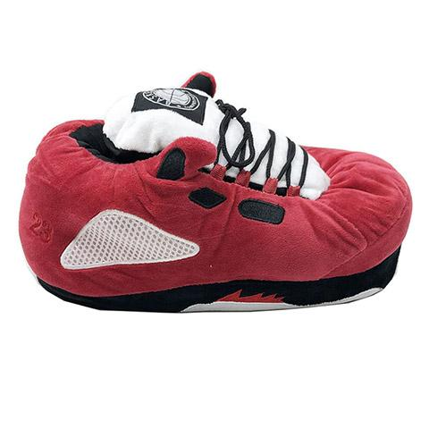 chausson basket homme rouge blanc