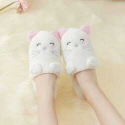 chausson chat femme