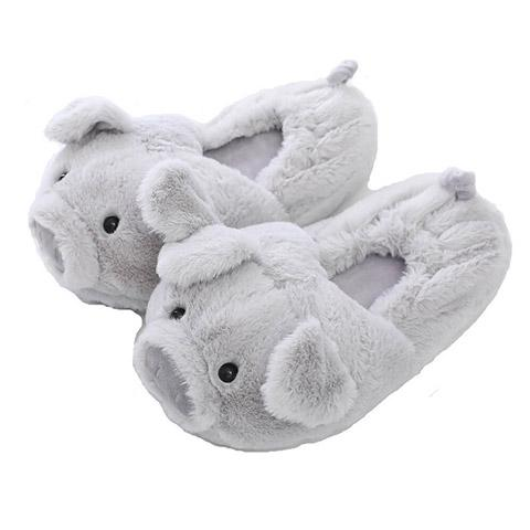 chausson cochon gris