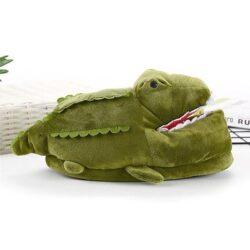 chausson crocodile qui ouvre la bouche de côté
