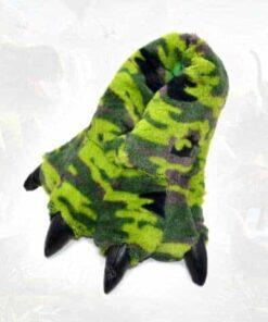 chausson dinosaure vert