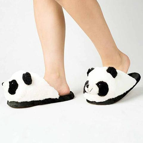 chausson femme panda amusant