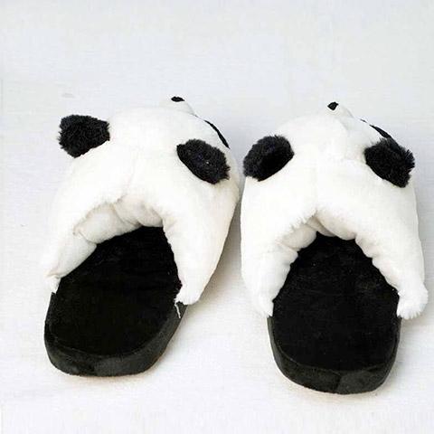 chausson femme panda peluche