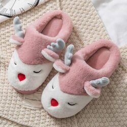 chausson femme rennes rose