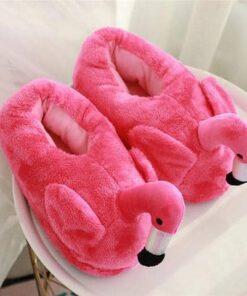 chausson flamant rose foncé