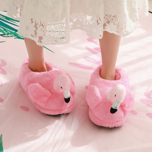 chausson flamant rose