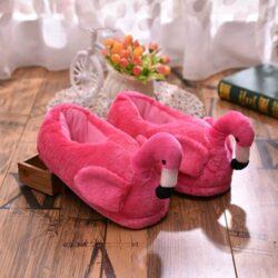 pantoufle flamant rose