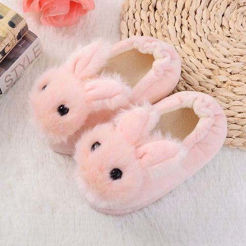 chausson lapin bébé rose