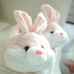 chausson peluche lapin