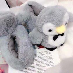 chausson pingouin gris