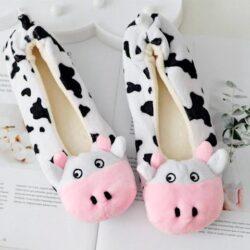 chausson vache femme