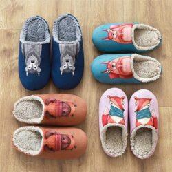 collection de chaussons thème nature