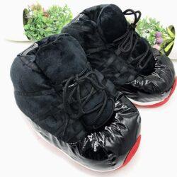 pantoufle basket noir rouge