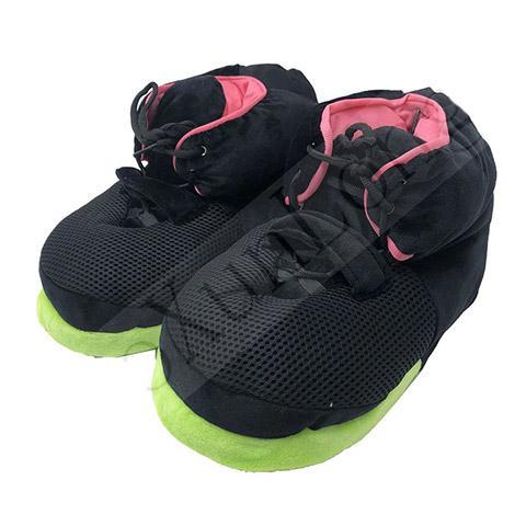 pantoufle basket noir vert rose