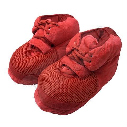 pantoufle basket rouge