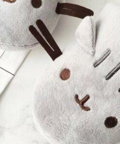 pantoufle chat gris zoom