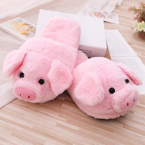 pantoufle cochon rose
