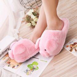 chausson cochon rose