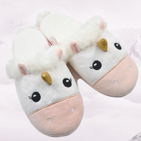 pantoufle emoji licorne