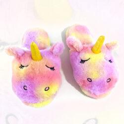 pantoufle licorne fille multicolore