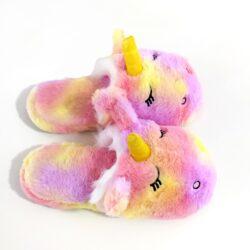 pantoufle licorne fille multicolore dessus