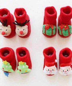 pantoufle de noël pour bébé chaussettes 1