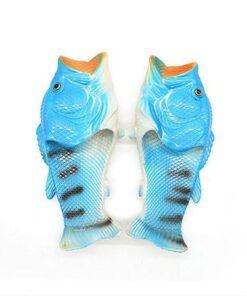 pantoufle poisson bleu