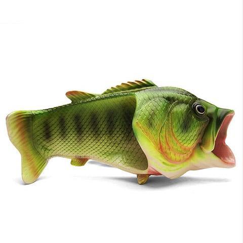 pantoufle poisson de côté