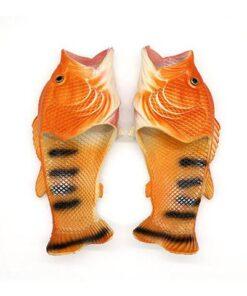 pantoufle poisson orange