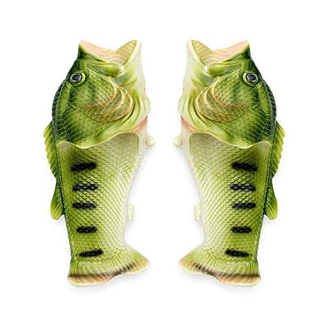 pantoufle poisson vert