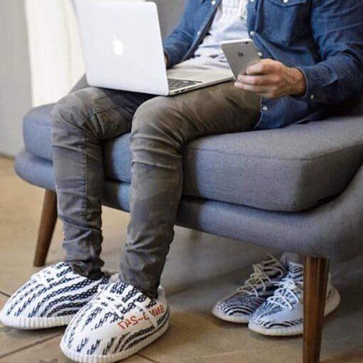 chausson yeezy zebra