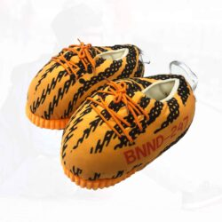 chausson yeezy zebra orange