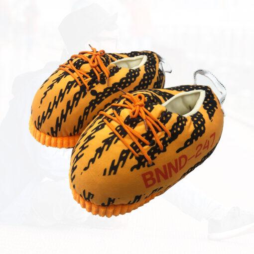 chausson yeezy zebra orange