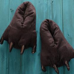 chausson griffe patte noir